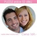 Puzzle srdce 52 dílů