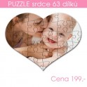 Puzzle srdce 63 dílů