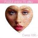Puzzle srdce 75 dílů - filc